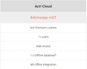 act-cloud-price