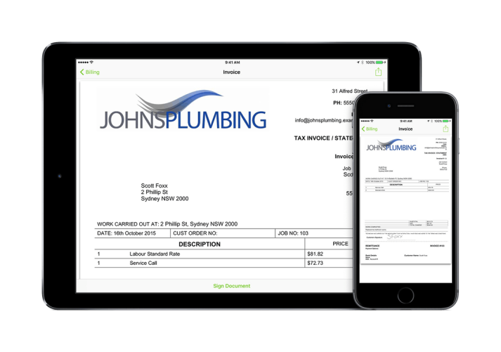 quoting and invoicing
